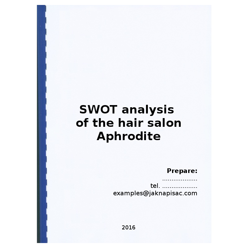 swot analysis of a hair salon Beauty salon swot analysis profile additional information what is a swot  analysis it is a way of evaluating the strengths, weaknesses, opportunities, and .