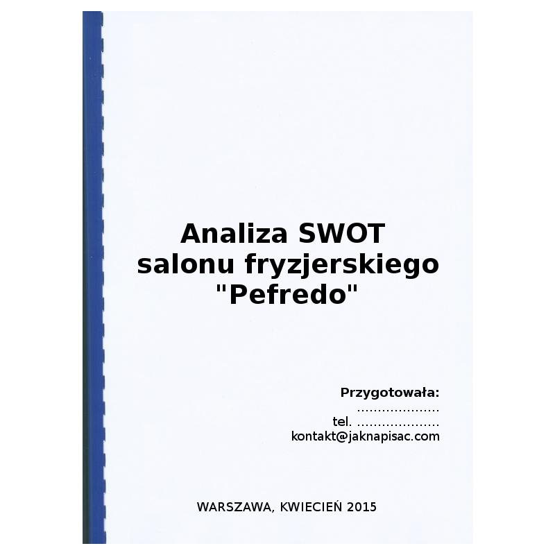 Analiza SWOT zakładu fryzjerskiego