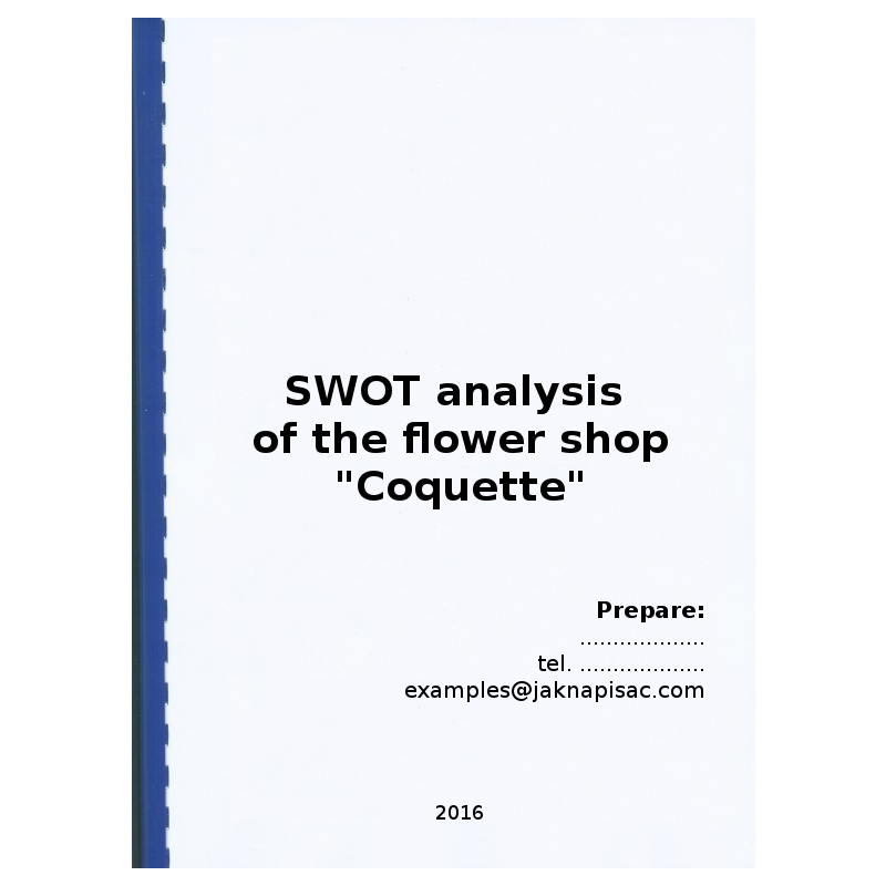 swot analysis for a cake shop Swot analysis examples  retail industry swot this is an example of a swot analysis for a retail  assets are really only shop fittings and stock with two.
