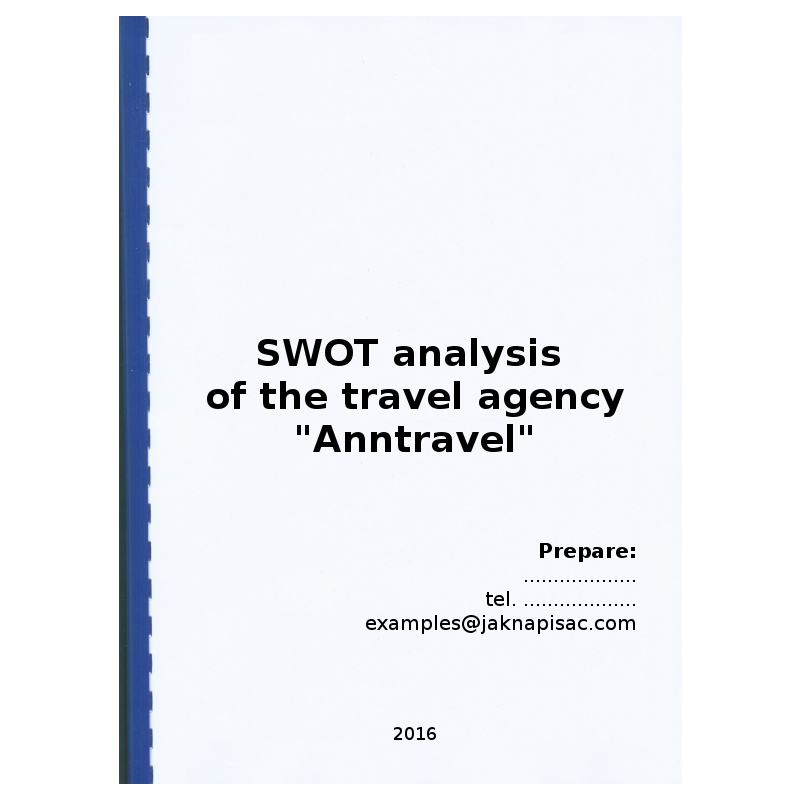 SWOT analysis of the travel agency \
