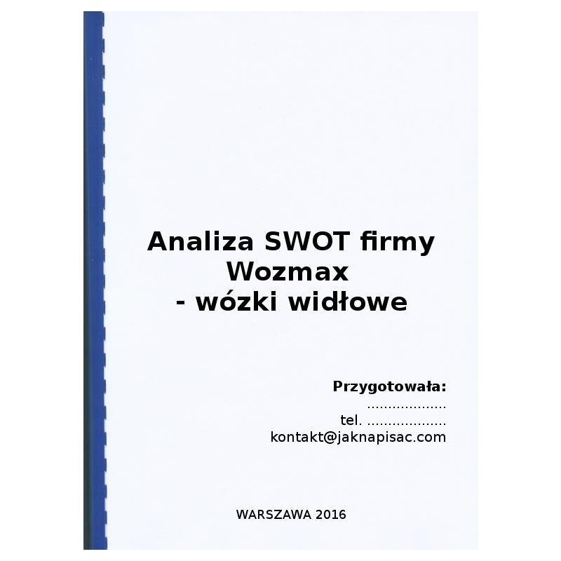 Analiza SWOT firmy Wozmax - wózki widłowe - przykład