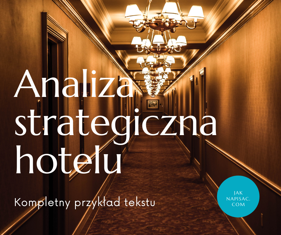 "Analiza strategiczna hotelu ""Mewa"""